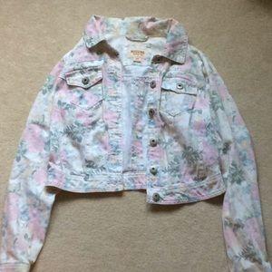 Mossimo Floral Denim Jacket